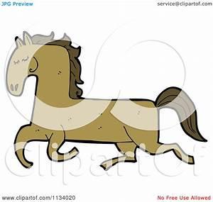 Running Horse Cartoon Cute