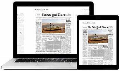 Times York Newspaper Paper Ny Edition Digital