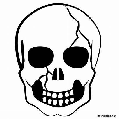 Halloween Templates Decoration Skull Stencils Template Silhouette