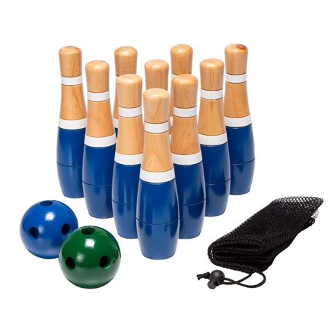 trademark   wooden lawn bowling set  lb  home