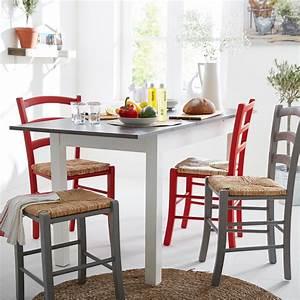 yvonne chaise rouge avec assise paille alinea chaises With deco cuisine avec chaises par 6 salle À manger