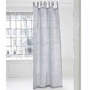 Gardinen Grau Weiß Gestreift : gardine stripes loberon ~ Bigdaddyawards.com Haus und Dekorationen