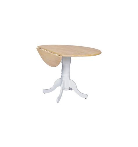 [42 Inch] Round Dropleaf Dining Tables   Wood You