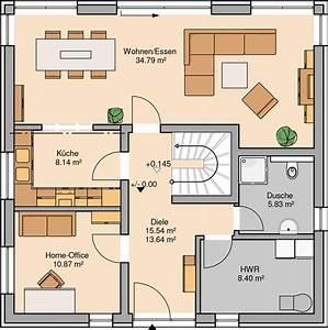 Massivhaus Kern Haus Stadtvilla Centro Grundriss