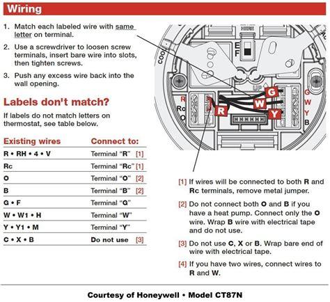honeywell thermostat wiring diy house help