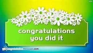 Congratulations You Did It | www.pixshark.com - Images ...