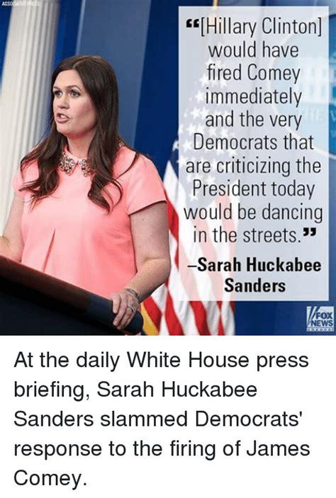 Sarah Huckabee Sanders Memes - 25 best memes about comey comey memes
