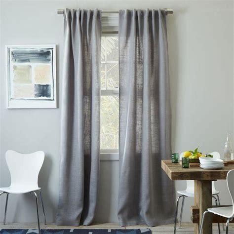 west elm curtains burlap curtain platinum west elm
