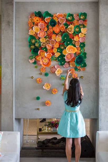 Flower Paper Diy Wall Projects Handmade Crepe