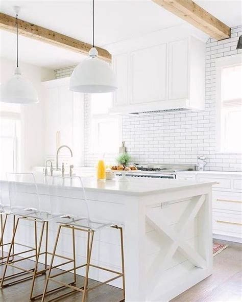 White And Wood Kitchen  See This Instagram Post By