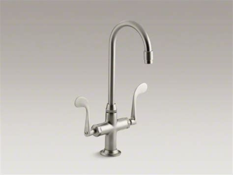 kohler essex kitchen faucet kohler essex r single hole bar sink faucet with wristblade handles contemporary kitchen