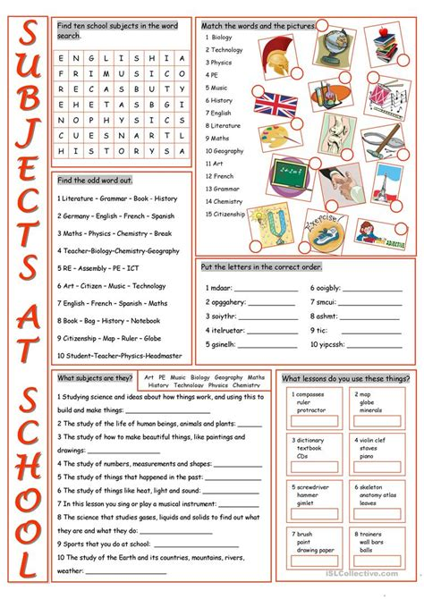 exercises classroom vocabulary classroom