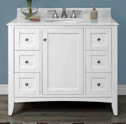 Fairmont Designs Bathroom Vanities Shaker Americana 42 Quot Vanity Polar White Fairmont Designs Fairmont Designs