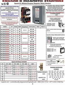 Square D Motor Overload Heater Chart