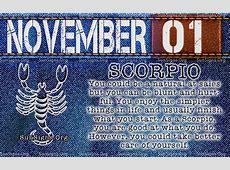 November 1 Birthday Horoscope Personality Sun Signs