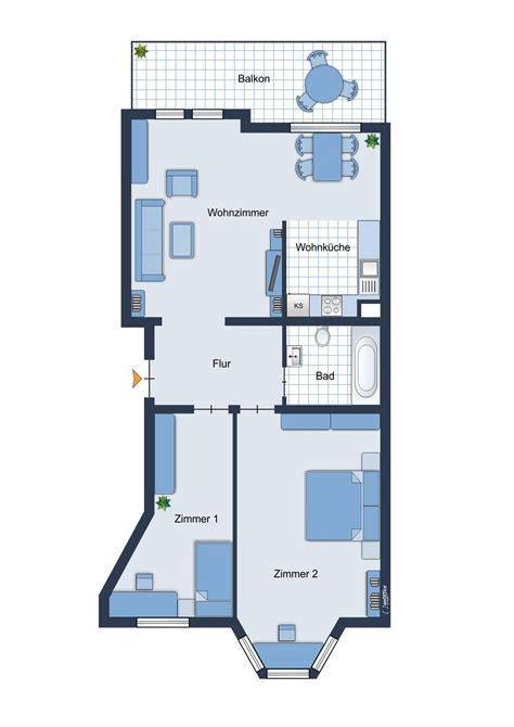 Grundriss Offene Küche by Auf Dem Ka 223 Berg 3 Zimmer Wohnung Offene K 252 Che