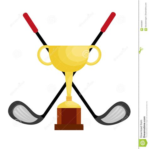 Clip Golf Winning Clipart Golf Trophy Pencil And In Color Winning