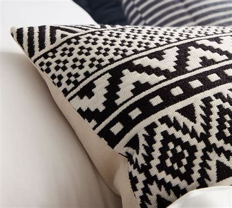 Beaded Jacquard Pillow Cover Pottery Barn New by Gemma Jacquard Lumbar Pillow Cover Pottery Barn