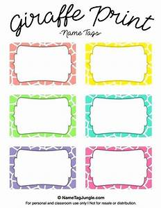 Name Tag Templates Word Download Free Editable Printable Labels For Kids Template Kid On Name
