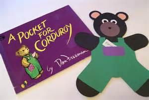 Teddy Bear Corduroy Pocket Template