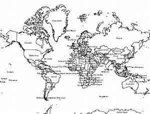 Carte Du Monde Noir : info carte du monde noir et blanc ~ Teatrodelosmanantiales.com Idées de Décoration