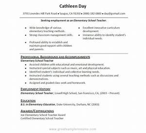 Example Resume For High School Student With No Work