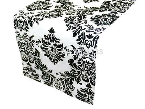 black and white table runners black and white flocking table runner damask table runner