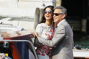 George Clooney and Amal Alamuddin | Pictures | POPSUGAR ...