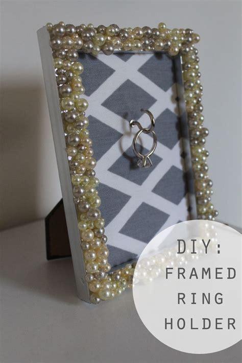 diy engagement ring frame holder for the home ring holder frame diy wedding frames
