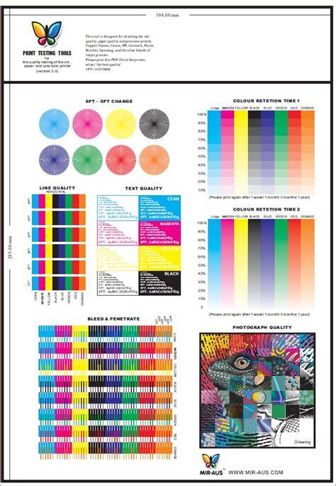 printer color test printer testing tools