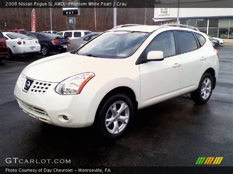 nissan 2008 white phantom white pearl 2008 nissan rogue sl awd gray