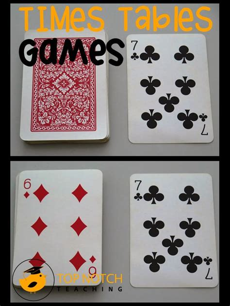 card and game tables card turnover math game times tables card games and game