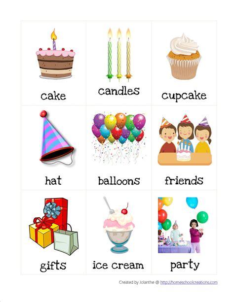 birthday preschool pack 846 | vocab 1
