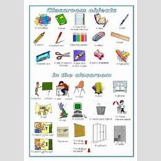 Classroom Objects A Pictionary (editable)  Esl Worksheet