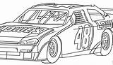 Nascar Coloring Printable Template Children Race Cars Adult Sport sketch template
