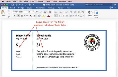 Print Raffle Tickets Using A Template In Office Word 2016. Simple Web Hosting Agreement. Weekend Work Schedule Template. Medical Assistant Skills For Resume Template. Medical School Recommendation Letter Samples Template. Standard Form Of Resumes Template. New Year Greeting Messages To Clients. Reverse Phone Directory Net Template. Relationship Interview Questions And Answers Template