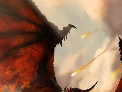 Wings Fire Wallpapers Deathwing Fan Artwork Warcraft