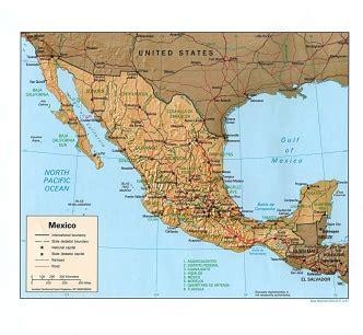 Ģeogrāfiskā karte - Meksika - 1,330 x 1,226 Pikselis - 294 ...