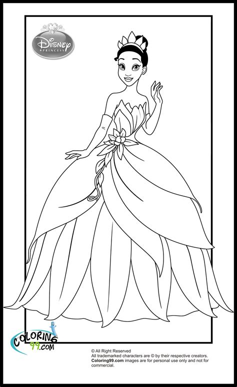 disney princess tiana coloring pages getcoloringpagescom
