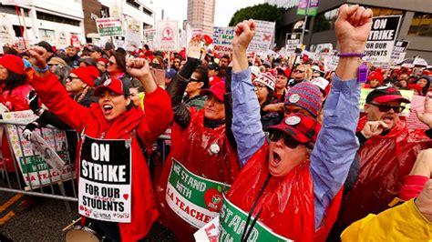 La Teacher Strike La Teacher S Strike Ends Teachers Students Win