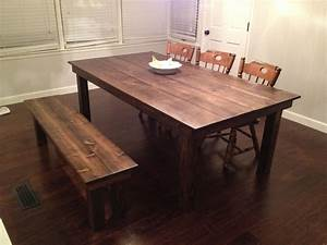Custom Farmhouse Dining Table by Gypsum Valley Made
