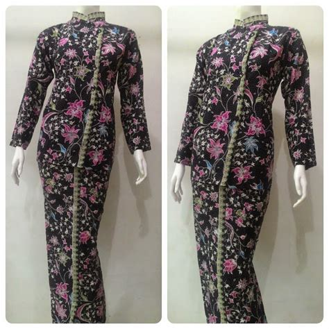 Melati Dress Gamis Melati Dres baju batik pramugari motif melati batik bagoes