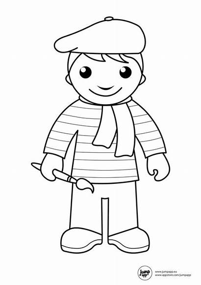 Coloring Community Helpers Pages Preschool Printable Sheets