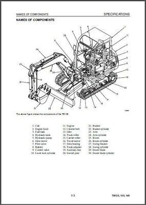 takeuchi tb tb tb compact excavator service repair workshop manual cd eur