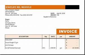 jewelry business invoice template excel invoice templates With jewellery invoice format