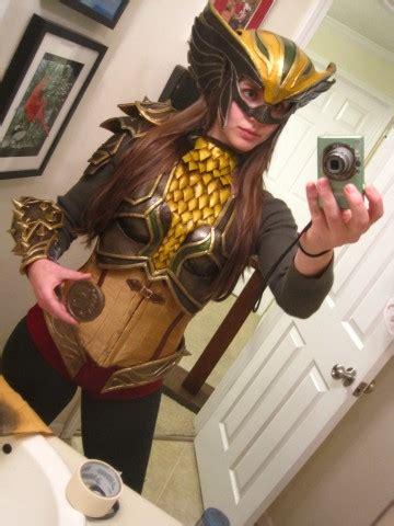 wip warrior hawkgirl costume   light  mace