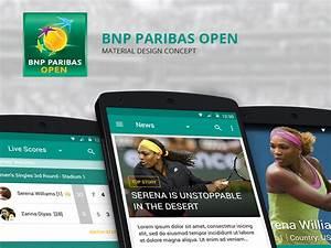 BNP Paribas Open App : Material Design – MaterialUp