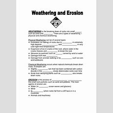 16 Best Images Of Weathering And Erosion Worksheet Activity  Free Weathering And Erosion