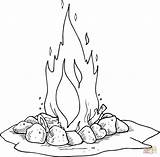 Campfire Coloring Camping Fire Printable �עומר לג Google Camp Printables Lag יצירה Drawing Log Activities Cartoon Dot Baomer Stencils Template sketch template