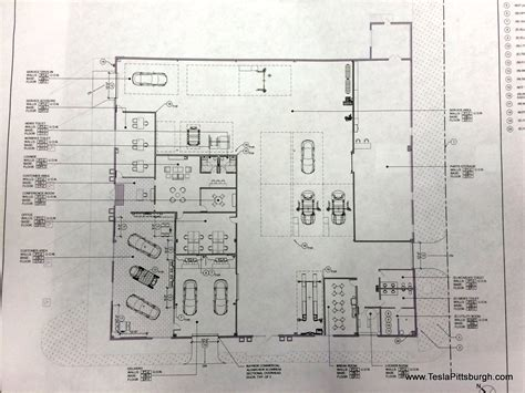 Car Bucks Dealer Floor Plan by New Tesla Service Center In Pittsburgh Given The Green